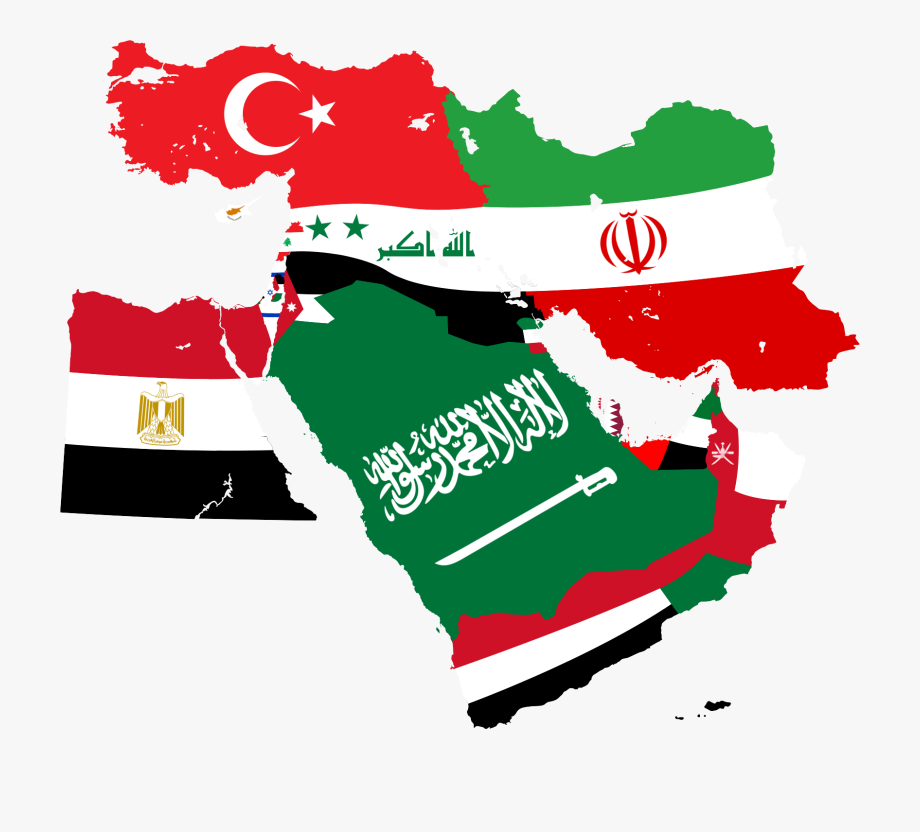 Middle east map clipart clipart library library Usa Flag Png Map - Middle East Map Flag #129598 - Free ... clipart library library