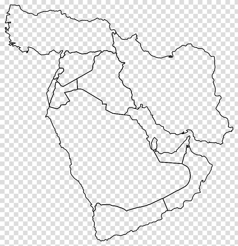 Middle east map clipart vector Middle East Western Asia Blank map World map, map ... vector
