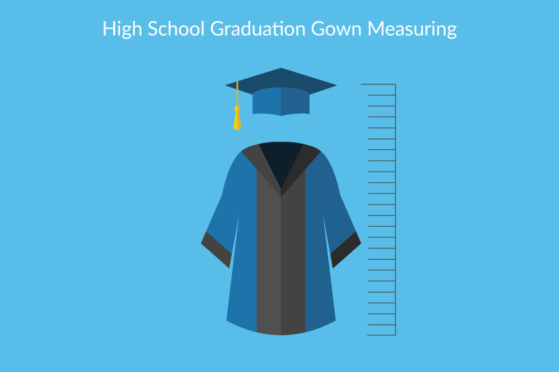 Middle school graduation cap and gown clipart vector royalty free How to Measure High School Students for Gowns - vector royalty free
