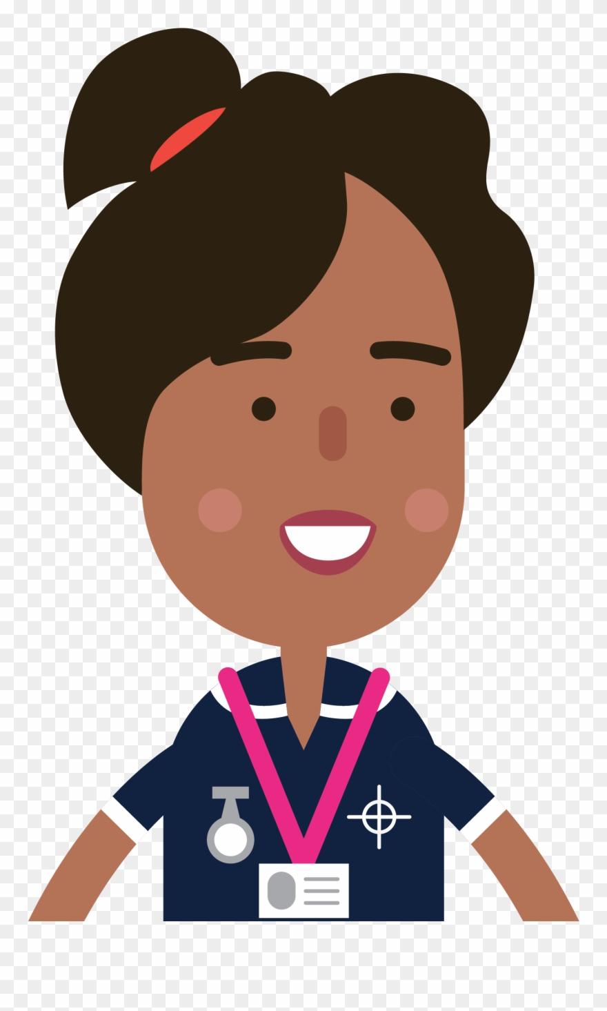 Midwife clipart free Headshot Nurse B - Cartoon Midwife Clipart (#259161 ... free