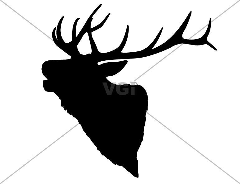 Midwinter night pencil clipart with elk no copyright freeuse stock elk antler drawing pattern | Use these free images for your ... freeuse stock