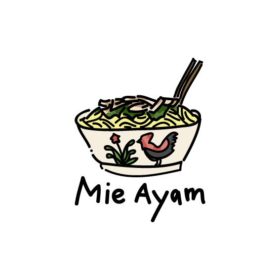 Mie ayam clipart picture free library Mie Ayam illustration | nesi\'s di 2019 | Ilustrasi digital ... picture free library