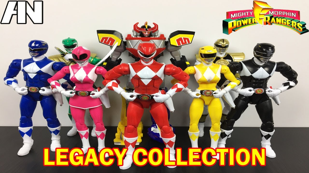 Mighty morphin power rangers lego intro clipart picture black and white Mighty Morphin Power Rangers Legacy Collection Figures - Build-A-Megazord  [My Morphin Collection] picture black and white