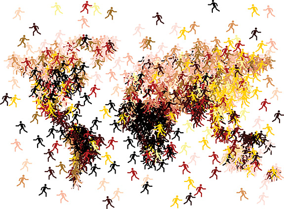Migration of people clipart clipart black and white stock Xavier\'s Mumbai 1 - Human rights 5 clipart black and white stock