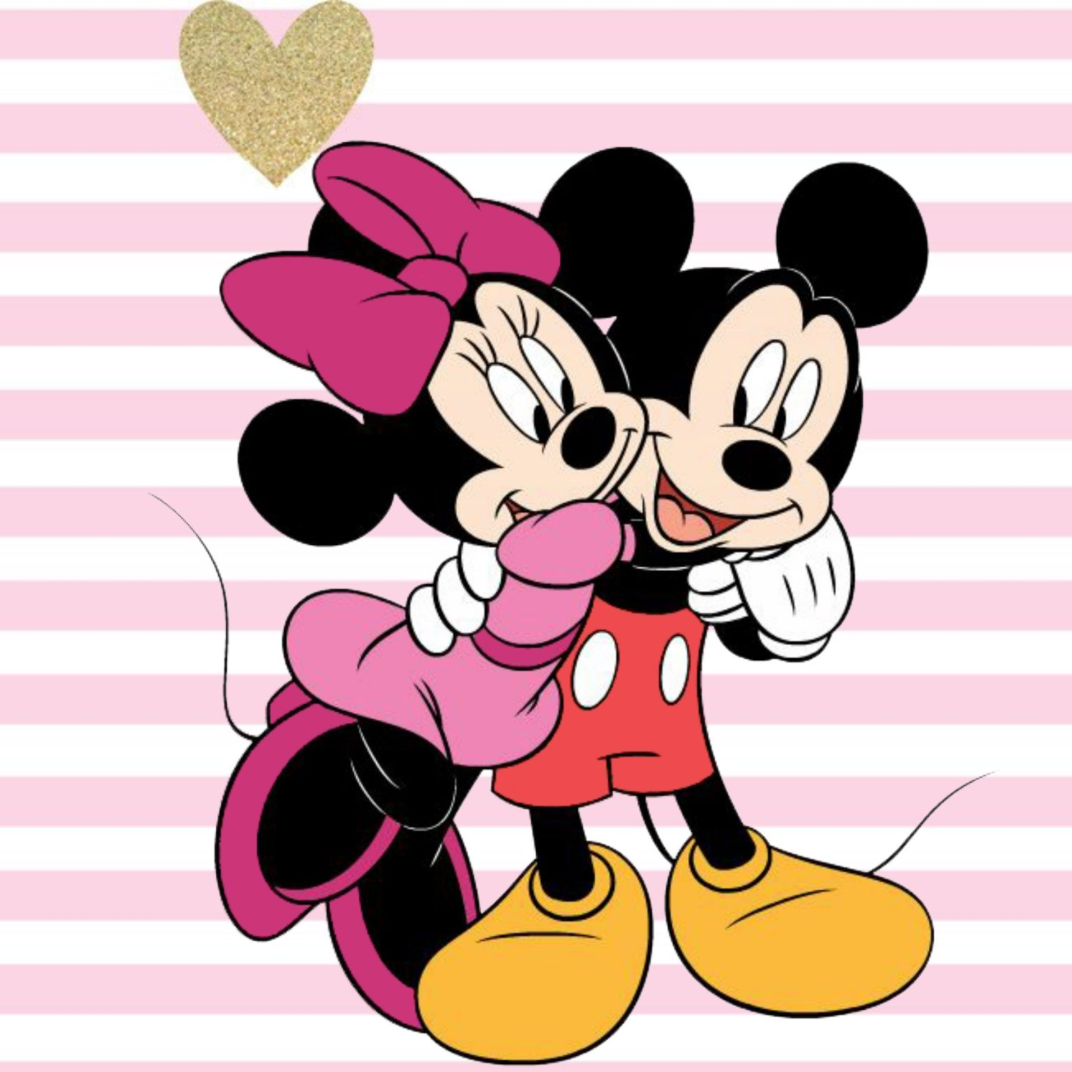 Miki maus clipart image free stock Minnie giving a hug to her sweetheart Mickey. | My Favorite ... image free stock