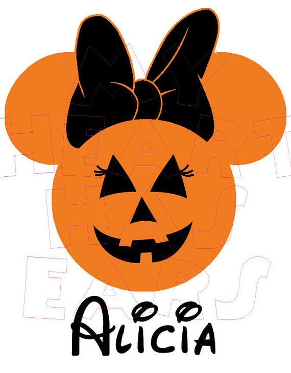 Mikie mouse jack o lantern head halloween clipart clip art royalty free stock Printable DIY Jack O\' Lantern Pumpkin Minnie Mouse digital ... clip art royalty free stock