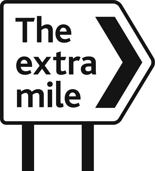 Mile clipart banner black and white Clipart going the extra mile - Clip Art Library banner black and white