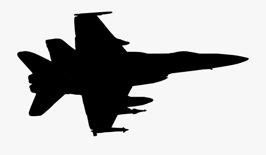 Military airplane clipart png free stock War Silhouette Airplane Plane Fly Aircraft - Air Force Plane ... png free stock