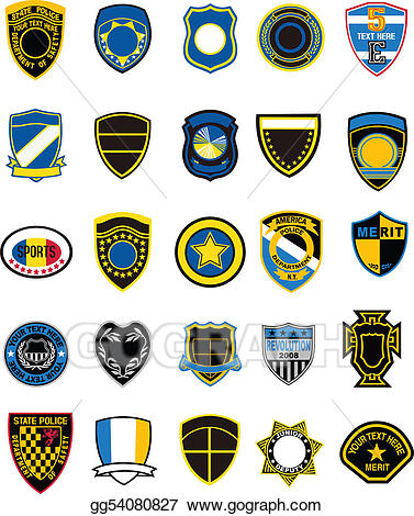 Military badges clipart png download Stock Illustration - Military badge shield. Clipart Drawing ... png download