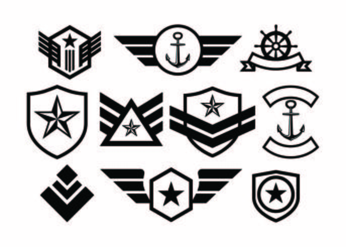 Military badges clipart picture free library Free Military Badge Collection Vector - Download Free ... picture free library