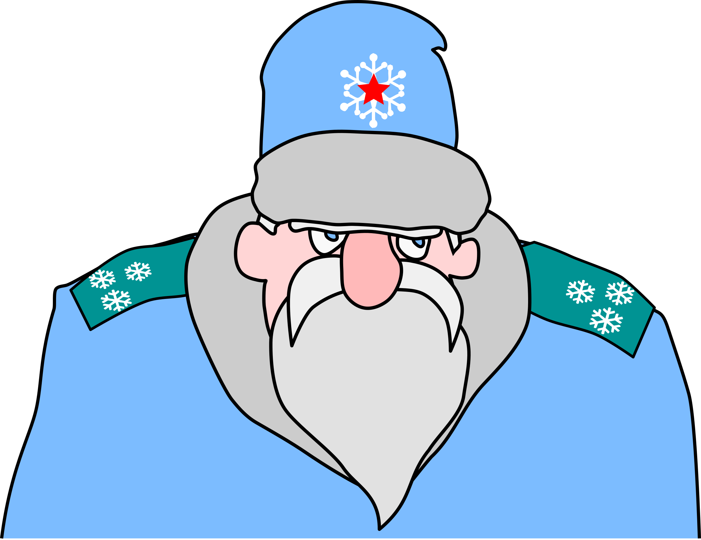 Military christmas clipart picture free stock Clipart - Colonel Frost - russian military Santa Claus picture free stock