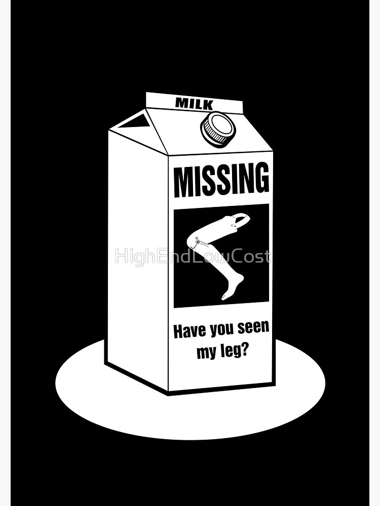 Military clipart leg amputee black and white svg library Missing: Have You Seen My Leg Prosthetic Leg? Funny T-Shirt for Amputees |  Spiral Notebook svg library