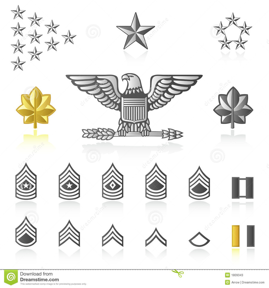 Military icons clipart clip freeuse library Download rank icons clipart Military rank United States Army ... clip freeuse library
