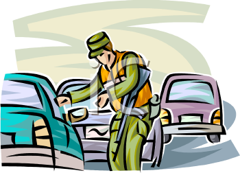 Military police clipart vector transparent library Royalty Free Clip Art Image: Military Police Officer Stopping Vehicles vector transparent library
