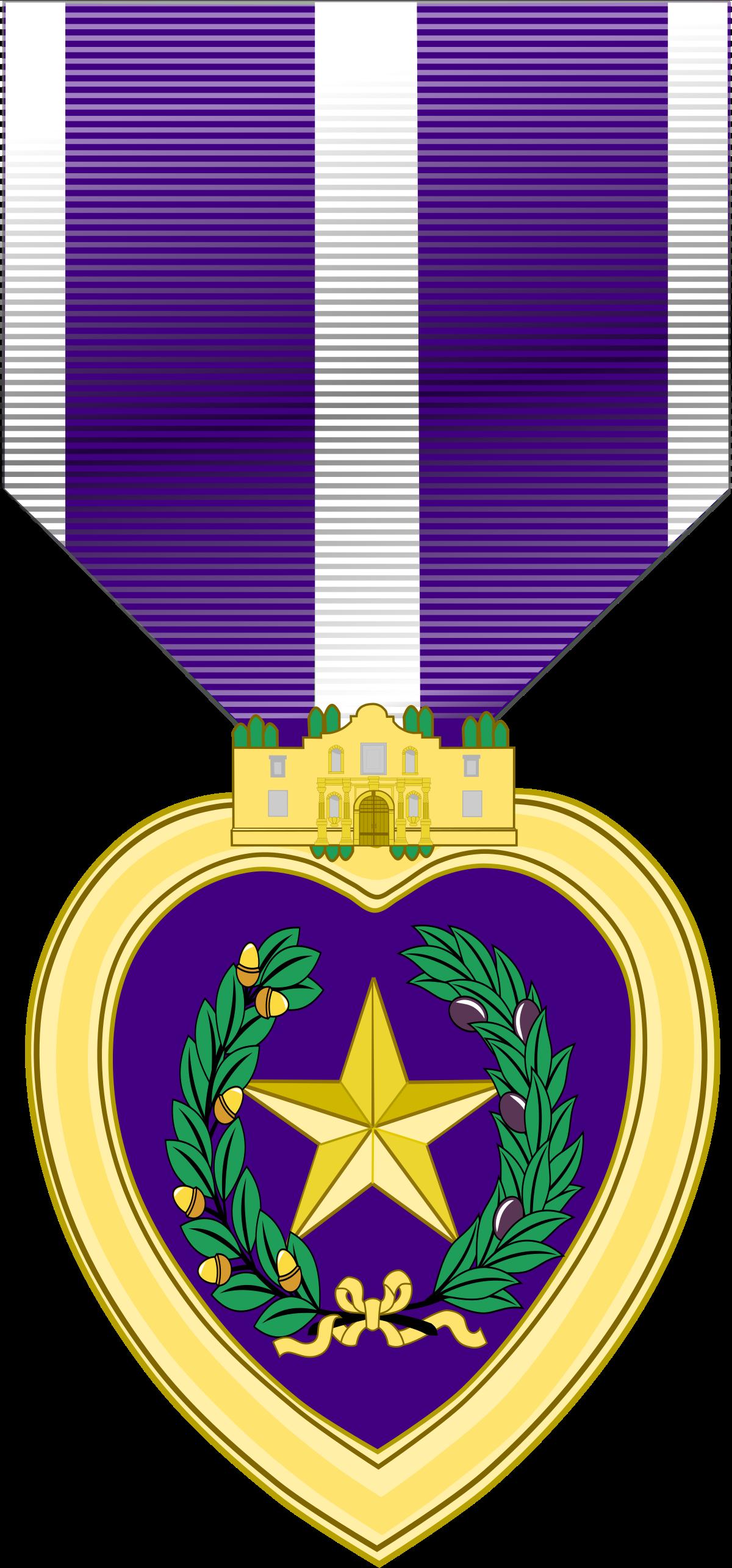 Military purple heart clipart transparent stock Texas Purple Heart Medal - Wikipedia transparent stock