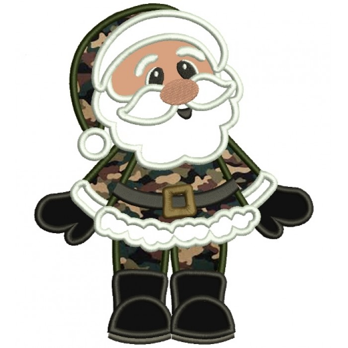 Military santa clipart clip library download Military Santa Christmas Applique Machine Embroidery Digitized Design  Pattern clip library download