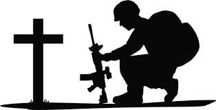 Military soldier kneeling with wings black and white clipart freeuse stock Image result for cross silhouette images | Crosses | Soldier ... freeuse stock