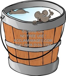 Milk bucket clipart graphic freeuse Clipart Illustration: Two Mice In A Milk Bucket graphic freeuse
