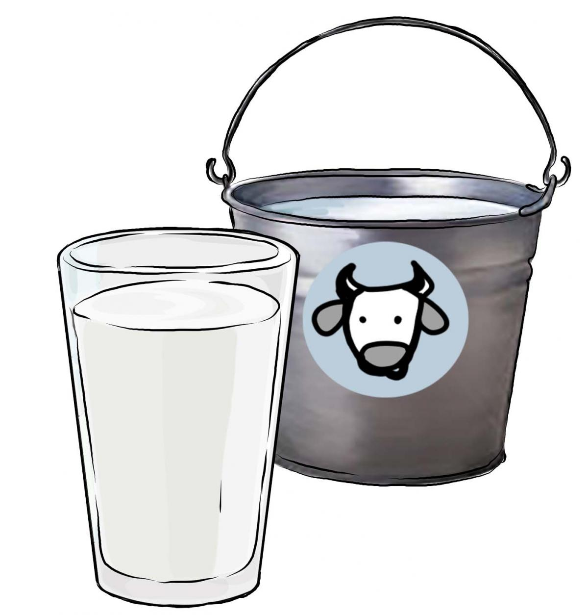Milk bucket clipart banner transparent library Objects - Pail of milk - 02 - Non-country specific | IYCF ... banner transparent library