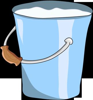 Milk bucket clipart jpg freeuse download Blue Milk Bucket jpg freeuse download