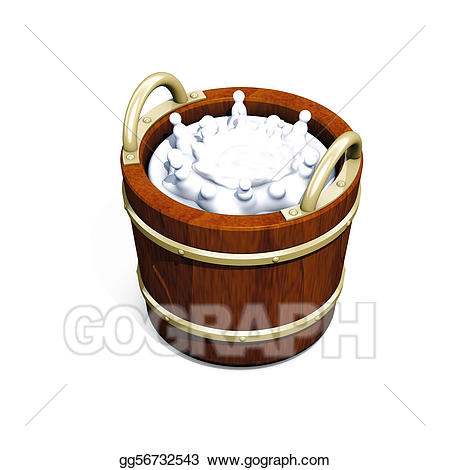 Milk bucket clipart png black and white download Stock Illustration - Bucket milk. Clipart Drawing gg56732543 ... png black and white download
