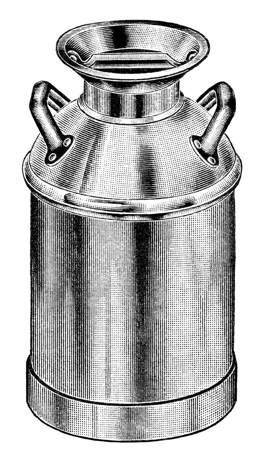 Milk can clipart clipart vintage milk can clip art, old fashioned milk container ... clipart
