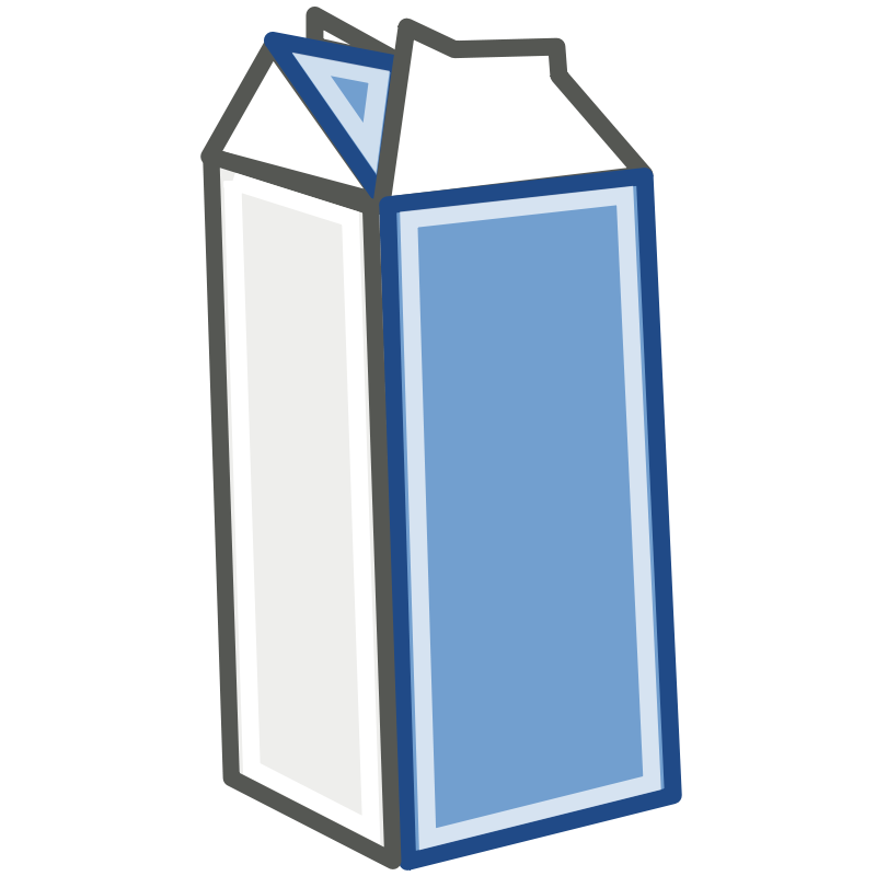 Milk carton clipart picture free library Free Clipart: Tango Style Milk Carton | rugby471 picture free library
