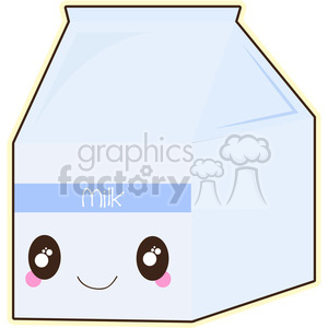 Milk carton clipart graphic free library Milk Carton cartoon character vector image clipart. Royalty-free clipart #  394924 graphic free library
