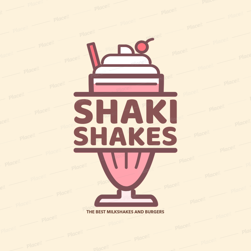 Milk logo clipart clip royalty free library Ice Cream Parlor Logo Maker with Milk Shake Clipart 1233e clip royalty free library