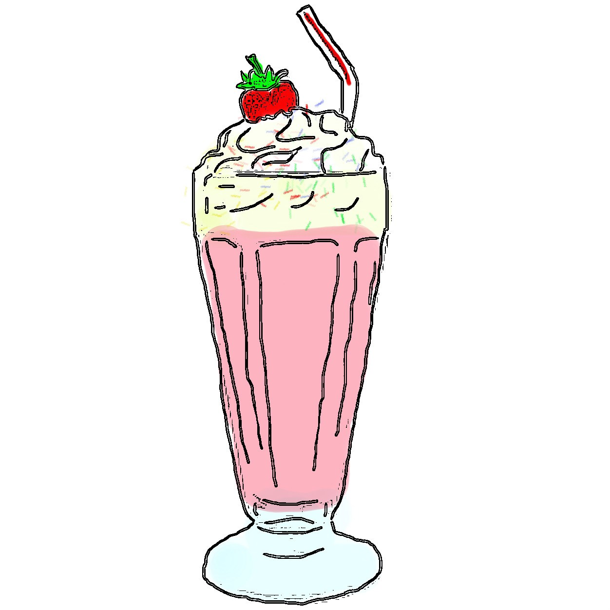 Milkshake images clipart clipart black and white library Milkshake clipart 4 » Clipart Portal clipart black and white library