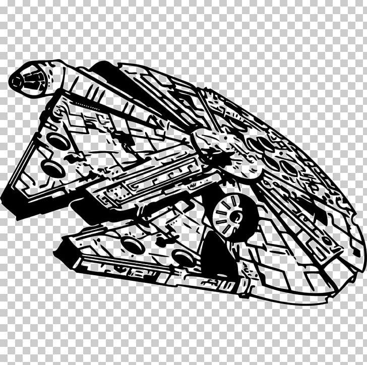 Millenium falcon clipart graphic transparent library Millennium Falcon Star Wars Stencil PNG, Clipart, Art ... graphic transparent library