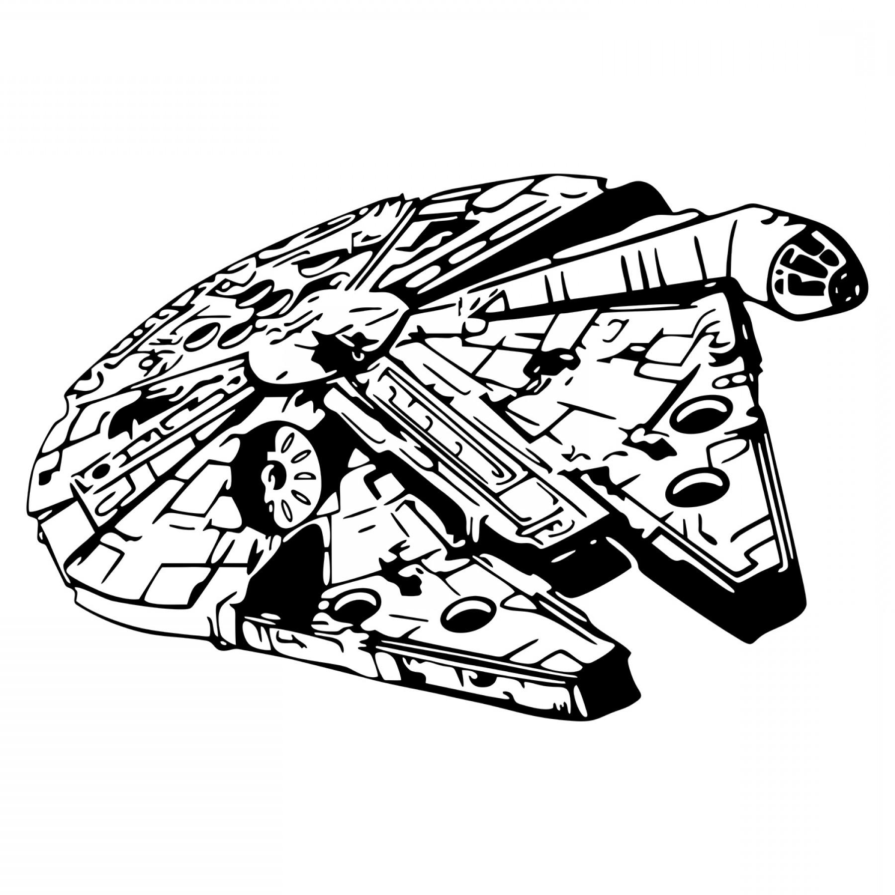 Millenium falcon clipart clip transparent Star Wars Millennium Falcon Spacecraft Design Svg Dxf Eps ... clip transparent