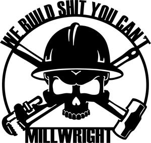 Millwright clipart vector transparent library Millwright Sign vector transparent library