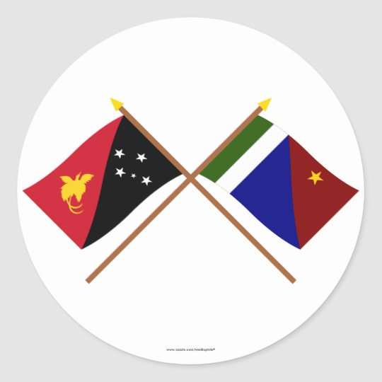 Milne bay province clipart image royalty free library Crossed flags of PNG and Milne Bay Province Classic Round Sticker image royalty free library