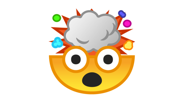 Mind blown clipart picture library library Google\'s 18-Month Quest To Redesign Its Terrible Emoji ... picture library library