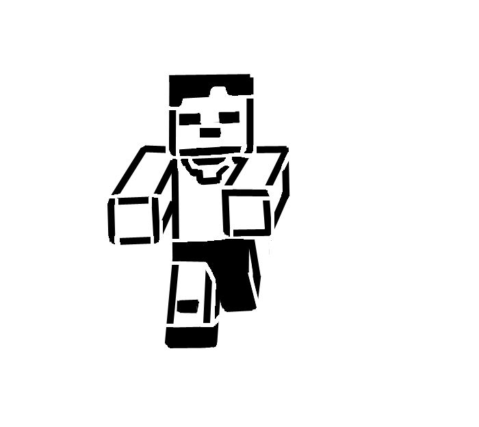 Minecraft clipart black and white black and white stock Free Black And White Minecraft Pictures, Download Free Clip ... black and white stock