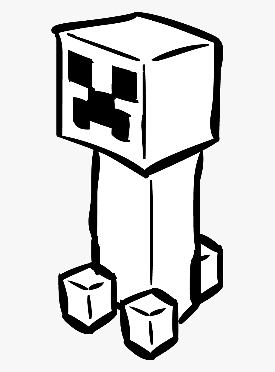 Minecraft clipart black and white banner freeuse download Minecraft Clipart With Your Skin - Minecraft Creeper Clipart ... banner freeuse download