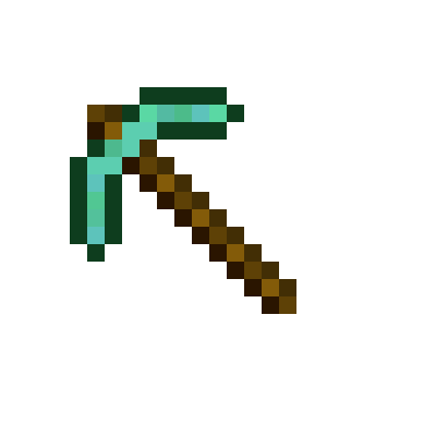 Minecraft diamond pickaxe clipart clipart freeuse download Minecraft Pickaxe Icon #200515 - Free Icons Library clipart freeuse download