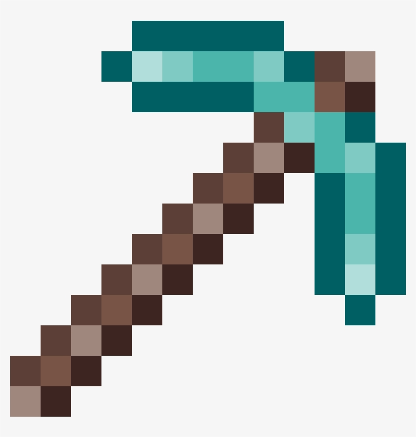 Minecraft diamond pickaxe clipart graphic freeuse Clip Art Pickaxe Drawing Diamond - Minecraft Gold Pickaxe ... graphic freeuse