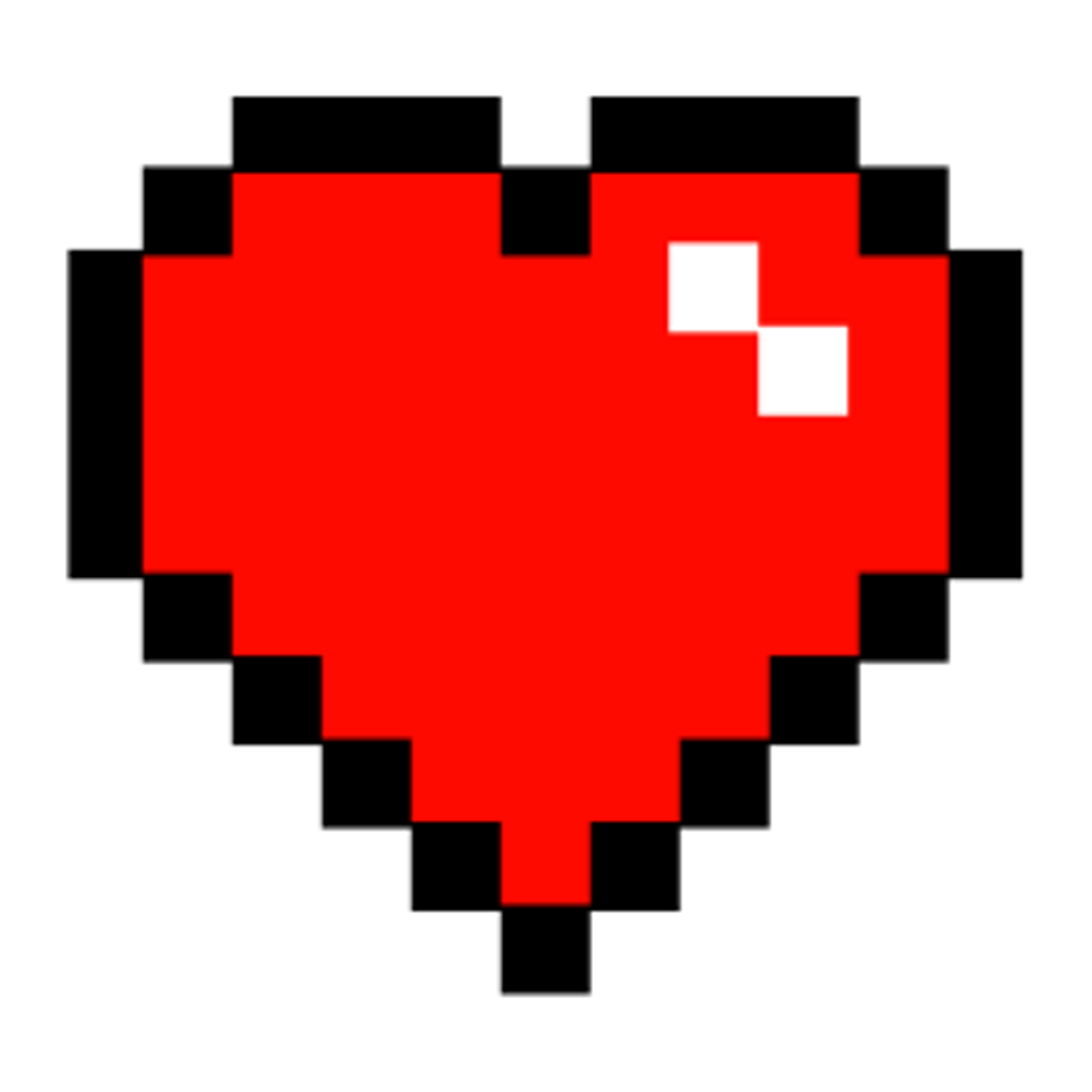 Pixel heart clipart transparent download tumblr minecraft red pixel heart... transparent download