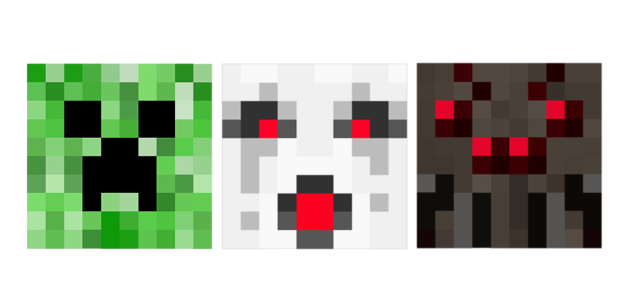 Minecraft heart clipart picture royalty free Creeper, Ghast, Spider, Oh My by psychoren on DeviantArt picture royalty free