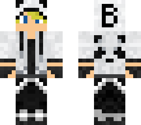 Minecraft kid with blonde hair and sunglasses clipart clip freeuse Blonde Panda Boy | Minecraft Skins clip freeuse