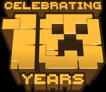Minecraft pe logo clipart graphic Minecraft 10 Year Anniversary | Minecraft graphic