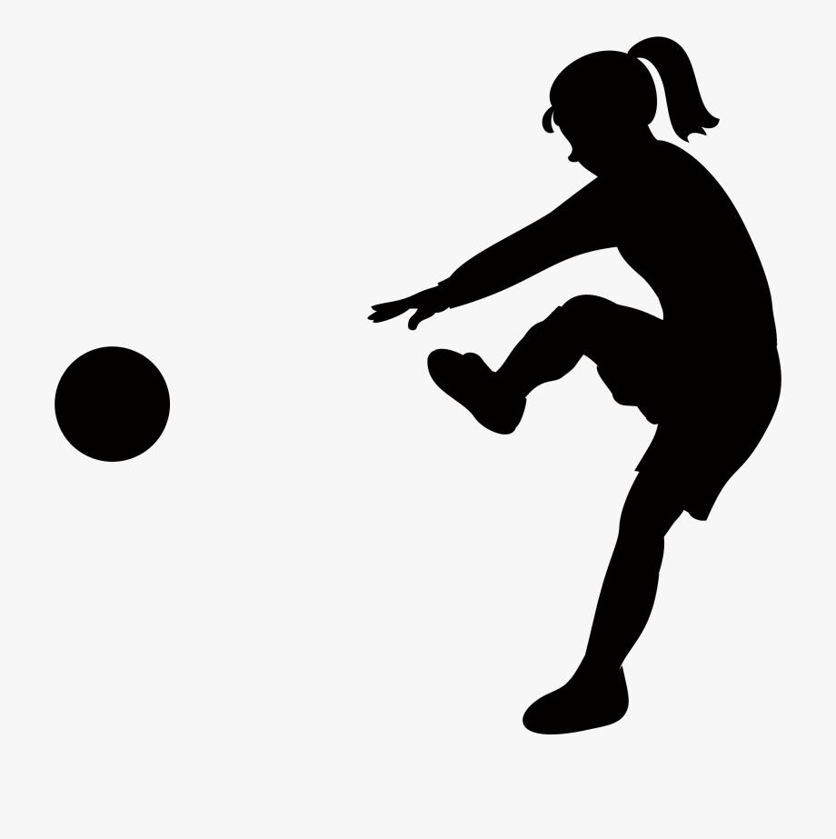 Mini bar black and white siloette clipart image library download Girl Kicking Soccer Ball Silhouette - Kickball Svg #985041 ... image library download
