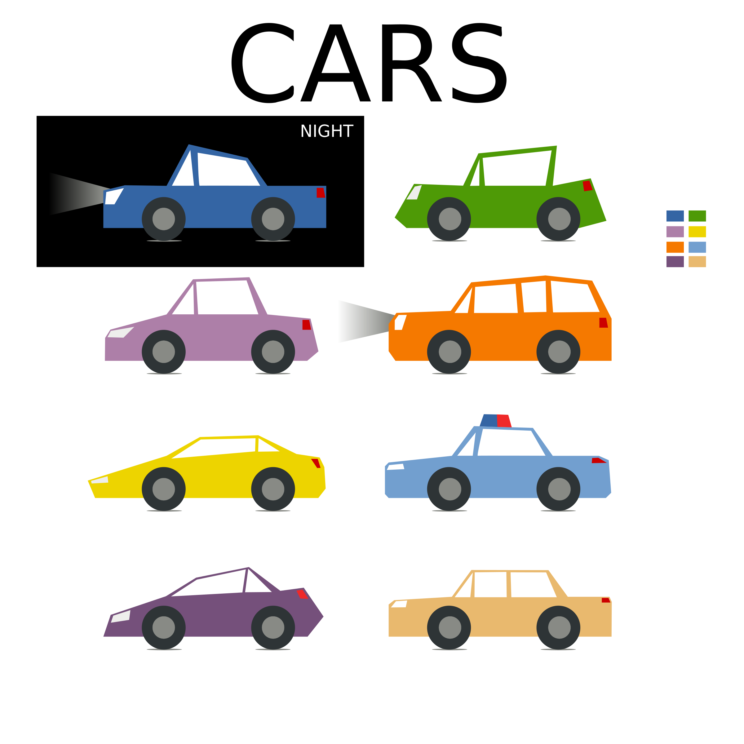 Minimal car clipart clip free library Clipart - Minimal colored car collection for games clip free library