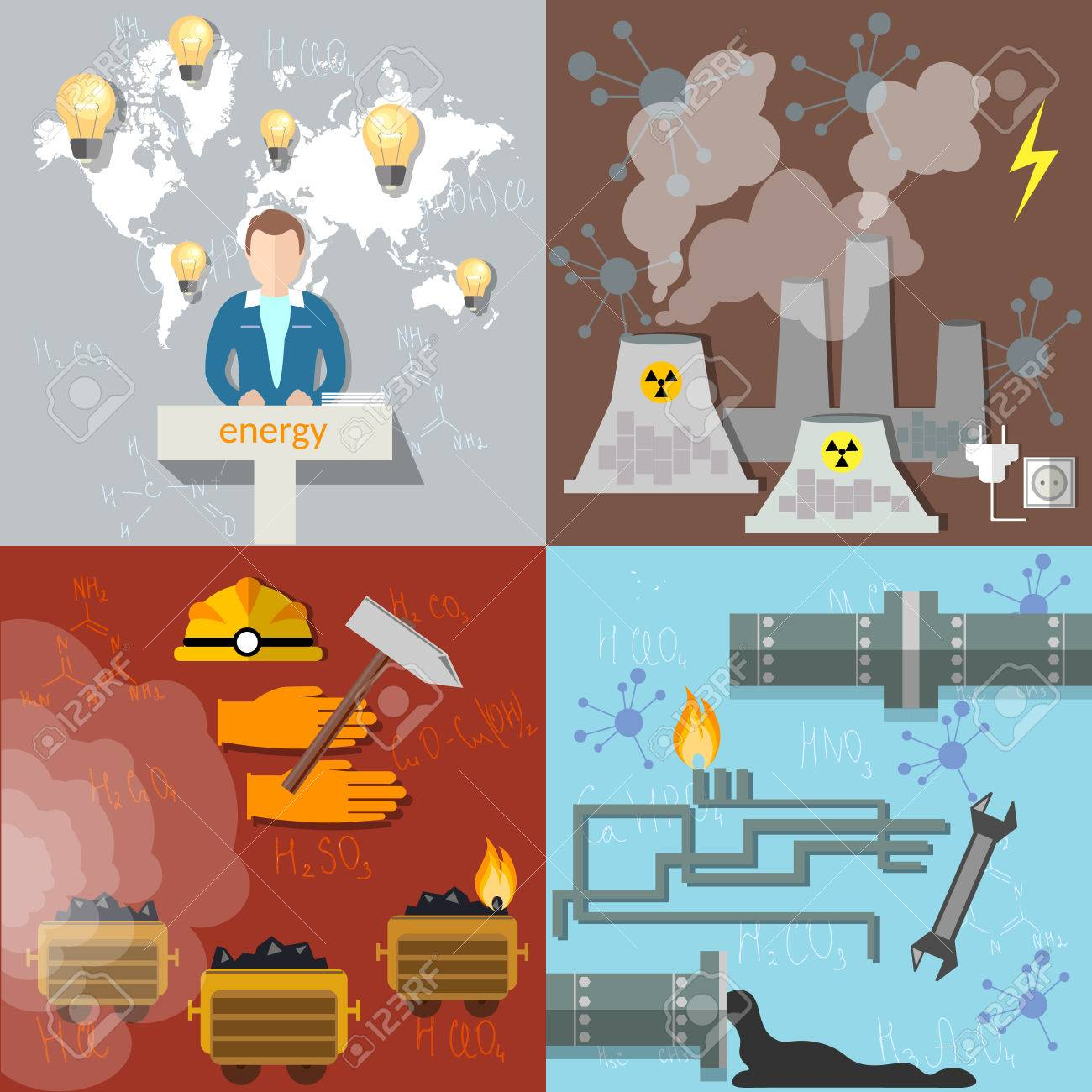 Mining pollution in clipart