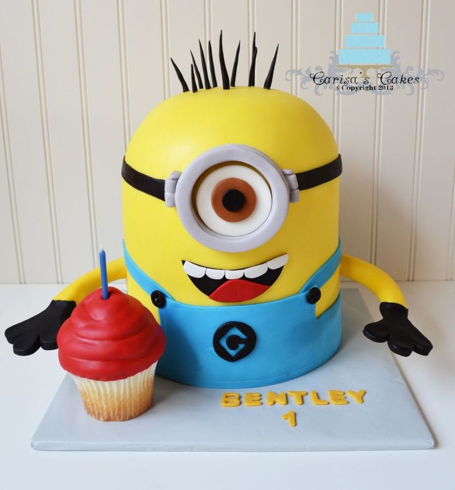Minion birthday cake clipart clipart royalty free Top Despicable Me Cakes - CakeCentral.com clipart royalty free