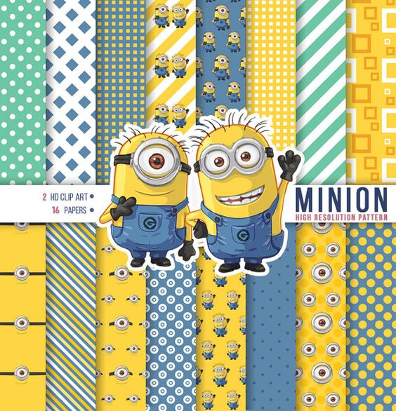 Minion birthday clipart svg free stock Minion Hand Drawing Clipart, Minion Digital Paper, Happy birthday ... svg free stock