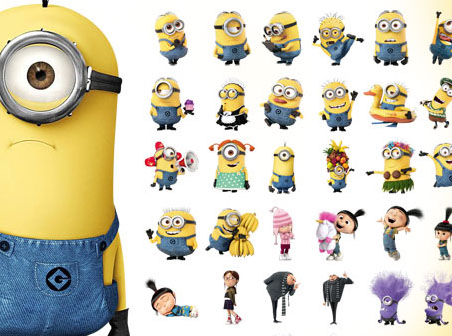 Minion character clipart graphic black and white stock Clipart animated character icon despicable me - ClipartFest graphic black and white stock