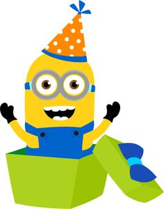 Minion happy birthday clipart vector download Minion birthday cake clipart - ClipartFest vector download